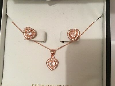 BNIB Stella Picciotto Verona - Gorgeous Heart Necklace and matching Earrings