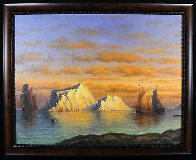 "James Hardy - ""The Close of Day"" (Similar paintings $2500) Circa mid 1800"