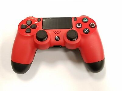Genuine PS4 Dual Shock 4 PlayStation 4 Controller Red Sony (Refurbished)