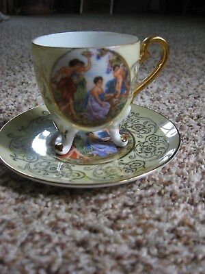 L.M. Royal Halsay Very Fine China, Footed Cup and Saucer