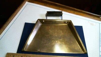 1930s Art Deco Brass Crumb Tray antique vintage old table home