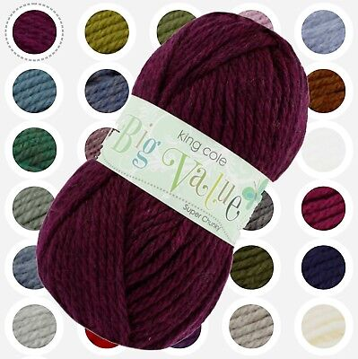 Big Value Super Chunky - King Cole - Acrylic Wool Yarn - UK Stockist