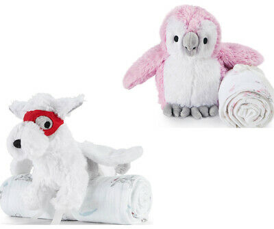Aden and Anais Muslin Swaddle and Cuddly companion Plush toy  gift set FREE POST