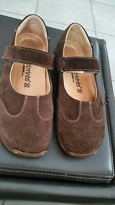 Footprints By Birkenstock Womens Brown Suede Leather Mary Jane Shoes Size 40
