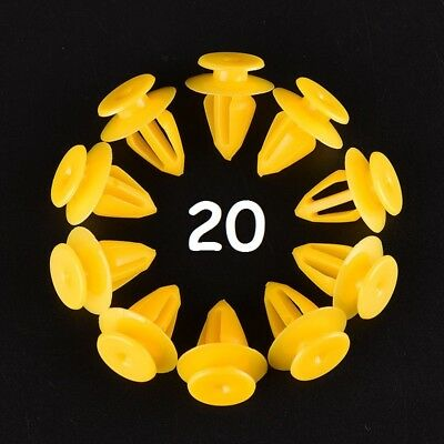 20 x Ford Door Panel / Card / Trim Clips Fasteners
