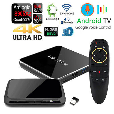 H96 MAX-X2 64GB Voz Control Doble Wifi Bluetooth Hdr 4K Android 4GB DDR4 Tv-Box