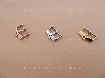NOS Vintage Watch Buckle Fat Ω Silver /Gold /Rose Gold 16mm 18mm fits Omega