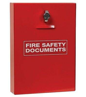 Fire Safety Document Holder Cabinet Box - FREE DELIVERY - Meets UK Regs