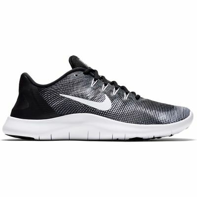 2a6a3a1aeb62 Nike FLEX 2018 RN Mens Black Grey AA7397 001 Athletic Training Running Shoes