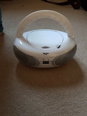 White Bush Portable CD Player With Bluetooth