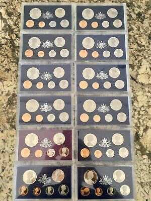 Royal Australian Mint Proof Sets 1969-1980 One Of Each Year !