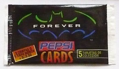Batman Forever 1995. Sealed Pack of Pepsi promotional cards.