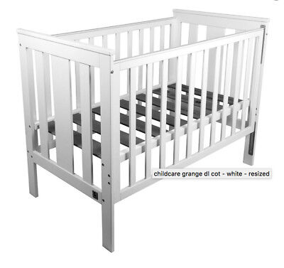 Cot, Toddler Bed to Sofa Bed Grange DL White Cot Brand New