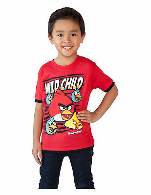Toddler Boys Angry Birds T-Shirt Wild Child Red 2T