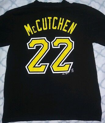 detailed look baad1 6e451 MAJESTIC ANDREW MCCUTCHEN PITTSBURGH PIRATES JERSEY T-shirt Youth Size Small