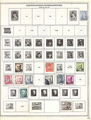 Lot Of 48 Czechoslovakia Postage Stamps From Old Collection