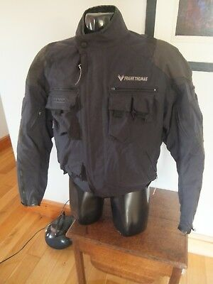 Mens Frank Thomas Black Textile  Motorcycle Jacket SizeXL Commute Winter
