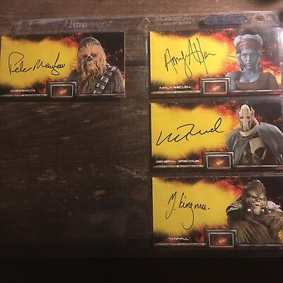 Star Wars Widevision Revenge Of The Sith Autograph Lot Of 4.