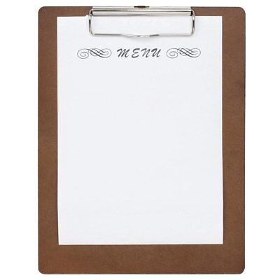 Olympia Wooden Menu Presentation Clipboard A4 | Wood Clip Board