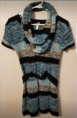 New Girls Sweater With Scarf Size 14