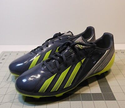 new arrivals 26ede a2510 Adidas F10 TRX FG Men s Soccer Cleats Size 9.5 Gray Lime Green  Silver