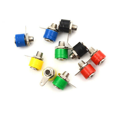 10pcs 4mm Banana Binding Post Test Probe Panel Socket Nut Plug Jack FO