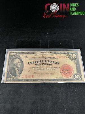 1936 Philippines 10 Peso Bank Note #24888