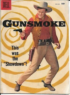 Gunsmoke Comic Book - Dell Comics #7 - February-March 1958