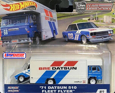 Hot Wheels 2019 Team Transport C  71 Bre Datsun 510 And Fleet Flyer  - Pre Order