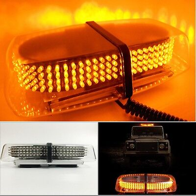 240LED Car Roof Recovery Light Bar Amber Warning Strobe Flashing Beacon Magnetic
