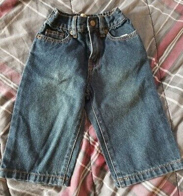 children's place baby toddler dark blue jeans 12M boys