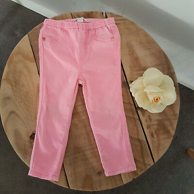 Toddler Baby Girl COUNTRY ROAD Fluro Pink Stretch Jeans Jeggings Pants 18-24M
