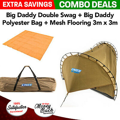 Adventure Kings Big Daddy Double Swag + Big Daddy Polyester Bag + Mesh Flooring