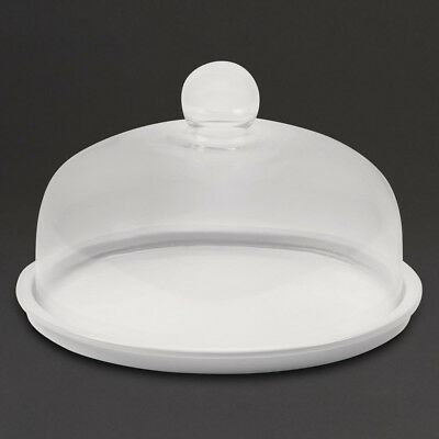 Bia Porcelain Cake Stand Plate 285mm | Display Holder Round Cakes Cupcakes