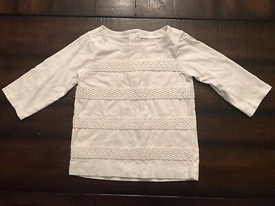 Janie And Jack White Top, Girl's Size 4T EUC