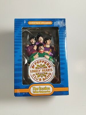 Beatles Sgt. Peppers Lonely Hearts Club Band Christmas Tree Ornament Adler w/Box