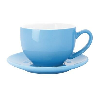 Pack of 12 Olympia Cafe Saucer Blue 158mm Stoneware Porcelain