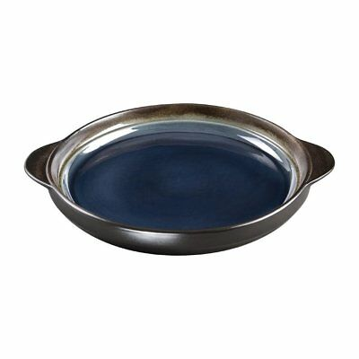 Pack of 6 Olympia Nomi Round Tray Blue 190mm Stoneware Porcelain Board