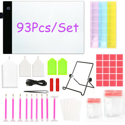 5D Diamond Painting Tool Kit LED Light Pad Light Board Stand Holder Drawing Gift