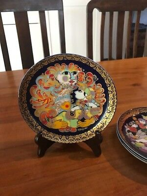 """4 Rosenthal porcelain collectors plates """"Aladin and the Magic Lamp"""""""