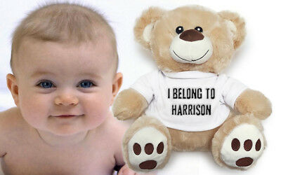 < Creator Available > Personalised Custom Teddy Bear Perfect New baby Gift