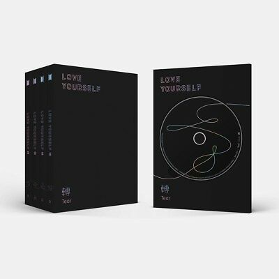 BTS [LOVE YOURSELF 轉 TEAR] 3rd Album RANDOM CD+2ea Book+Card+S.Photo+GIFT SEALED