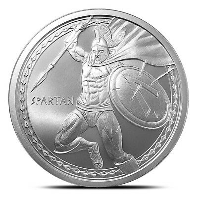 Warriors Series - Spartan 1 oz .999 Silver USA Made Limited BU Round