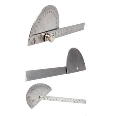 180 Degree Stainless Steel Rotary Protractor Angle Finder Measuring Ruler Tool L