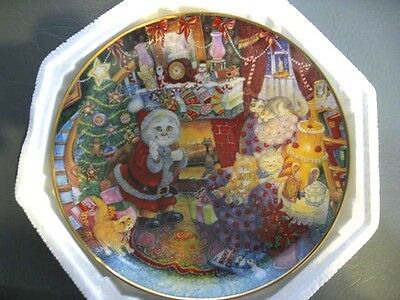 """Franklin Mint - """"Not A Creature Was Purring"""" CAT plate numbered"""