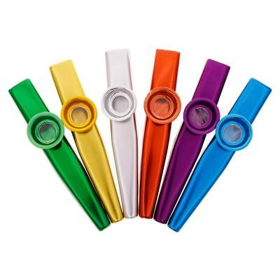 Metal Kazoo Harmonica Mouth Flute Kids Party Gift Kid Musical Instrument Pro
