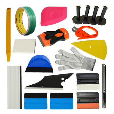 Pro Auto Car Wrap Application Tools Vinyl Squeegee Felt, 5M Knifeless Tape Combo