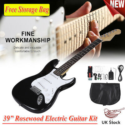 Newest Classic Style Rosewood 6 String Full Sized Electric Guitar Kits with Bag
