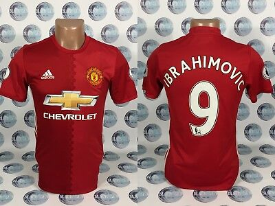 b602aed0b Manchester United 2016 2017 Home  9 Ibrahimovic Football Soccer Shirt Jersey  Xs