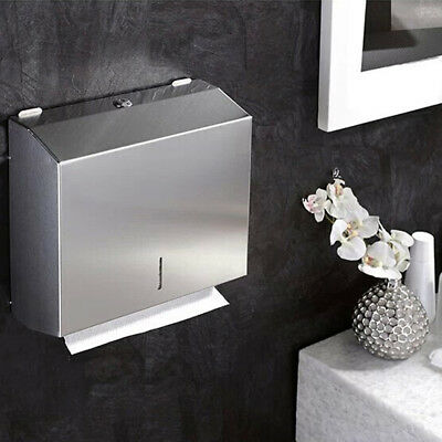 Rectangle Stainless Steel Handkerchief Tissue Paper Box Cover Toilet Bathroom